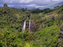 Opaekaa Falls waterfall in Kauai Stock Photography