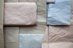 Opakunkowego papieru tekstura od above zdjęcia stock