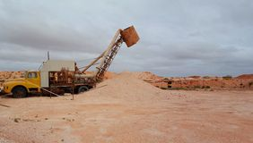 Opal Blower, Coober Pedy Stock Image