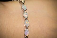 Opal Bracelet blanco Imagen de archivo libre de regalías