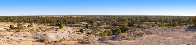 Opal Fields Panorama. Panorama of opal mining fields in outback Australia Stock Photography