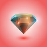 Opal gem. A beautiful opal gem on a gradient background ( object stock illustration