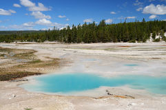 Opal hot pool in yellowstone Stock Photos