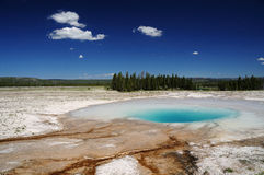 Opal hot pool in yellowstone Royalty Free Stock Photography
