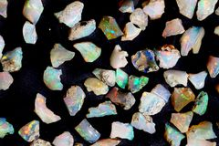 Opal mineral collection. As nice natural background stock photography