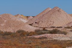 Opal mines in Coober Pedy stock photography