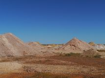 Opal mines in South Australia Royalty Free Stock Photography