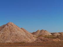 Opal mining in the Australian outback Royalty Free Stock Image