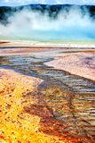 Opal Pool Landscape in Yellowstone Nationalpark lizenzfreie stockbilder