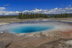 The Opal Pool in Yellowstone National Park Stock Images