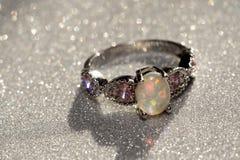Opal Ring blanco Fotografía de archivo