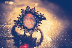 Opal Ring Filtered blanco Imagenes de archivo