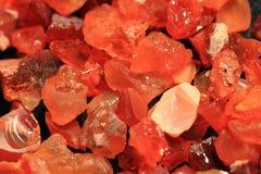 Opalbeschaffenheit des roten Feuers Stockfotografie