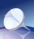 opalcirkelsilver Arkivfoto