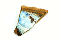 Opale in roccia originale Fotografie Stock Libere da Diritti