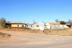 Opalen mijnbouwstad Andamooka, Zuid-Australië Stock Afbeeldingen