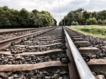 Railway receding into the distance Stock Photography