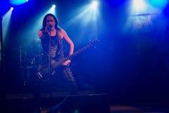 Opalenica, Polonia: 09 10 2016: Bebedores ácidos del concierto, al oscilar sábado foto de archivo libre de regalías