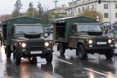 Opancerza z drogowego pojazdu na militarnej paradzie w Praga, republika czech zdjęcia stock