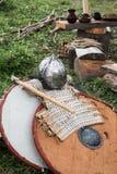 Opancerzenie i bronie średniowieczny życie Obrazy Royalty Free