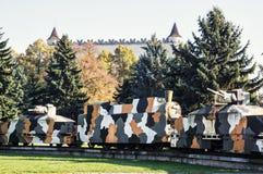 Opancerzony pociąg Hurban w Zvolen, Sistani, druga wojna światowa pomnik Obrazy Royalty Free
