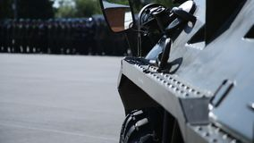 Opancerzony przewoźnik, parad jednostki specjalne Obraz Stock