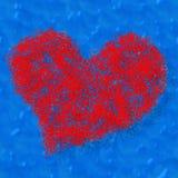 Opanowany czerwony serce ilustracja wektor