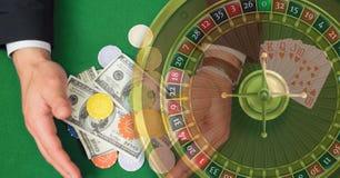 Opanowany wizerunek rulety deska na kasyno stole obraz stock