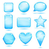 Opaque blue glass shapes Royalty Free Stock Image