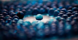 Opaque blue marbles Royalty Free Stock Image