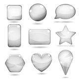 Opaque gray glass shapes Royalty Free Stock Photo