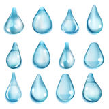 Opaque light blue drops Stock Image