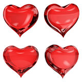 Opaque red hearts Royalty Free Stock Photography