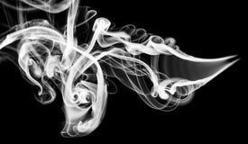 Opar: czarna dymna abstrakcja na bielu zdjęcia stock