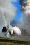 Opar i ogień zdjęcia stock
