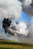 Opar i ogień zdjęcie stock