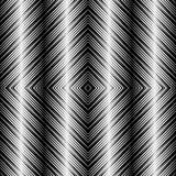 OPart design, Fliesen mit gestreiften Quadraten, Vector nahtloses Muster Stockfotografie
