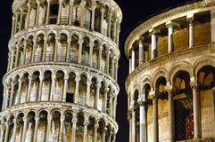 oparty noc Pisa wierza Obraz Royalty Free