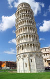 Oparty wierza Pisa, Torre Pendente di Pisa. Obrazy Royalty Free