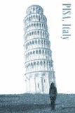 Oparty wierza Pisa, Włochy obraz royalty free