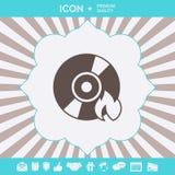Oparzenie DVD lub cd ikona Graficzni elementy dla twój projekta ilustracja wektor