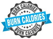 oparzenie kalorii foka znaczek ilustracja wektor
