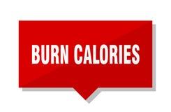 Oparzenie kalorii metka ilustracja wektor