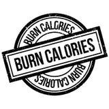 Oparzenie kalorii pieczątka ilustracja wektor