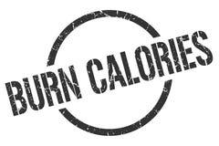 Oparzenie kalorii znaczek royalty ilustracja