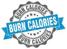 Oparzenie kalorii znaczek foka ilustracja wektor
