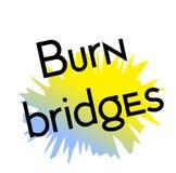 Oparzenie mostów znaczek na bielu ilustracja wektor