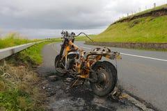 Oparzenie out motocykl Fotografia Stock