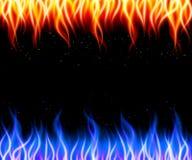 Oparzenie płomienia ogienia wektoru tło royalty ilustracja