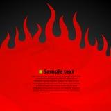 Oparzenie płomienia ogienia zmroku tło ilustracja wektor